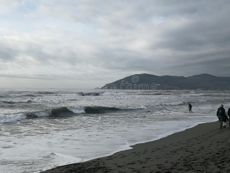 Χειμερινή θάλασσα στοκ εικόνα με δικαίωμα ελεύθερης χρήσης