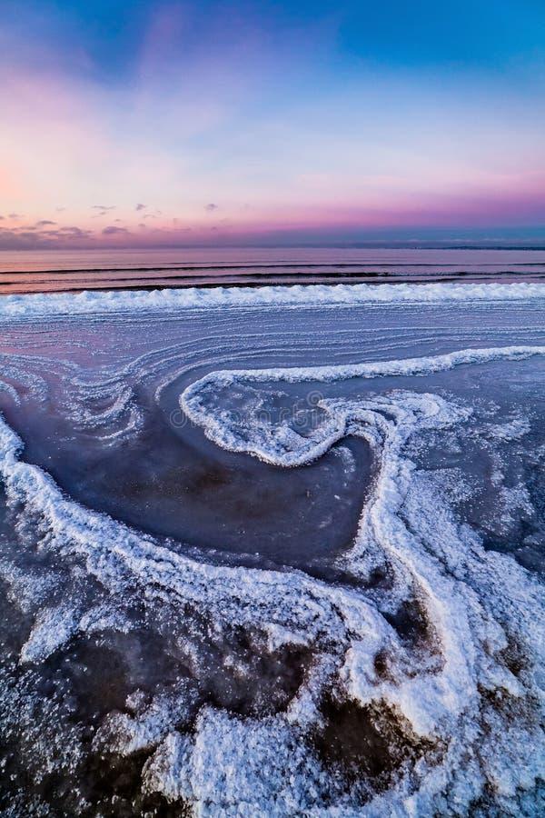 Χειμερινή θάλασσα, η θάλασσα της Βαλτικής στοκ εικόνα με δικαίωμα ελεύθερης χρήσης