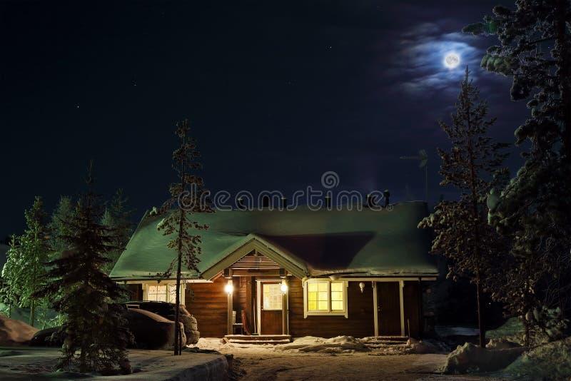 Χειμερινή νύχτα στοκ φωτογραφία