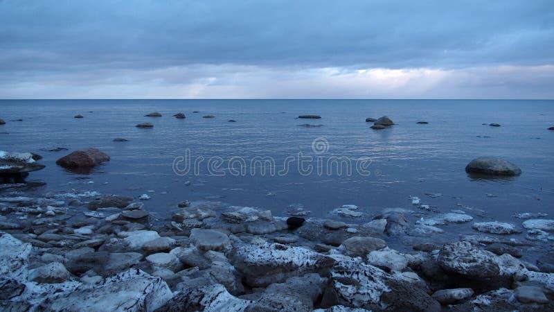 Χειμερινή παραλία στοκ εικόνες