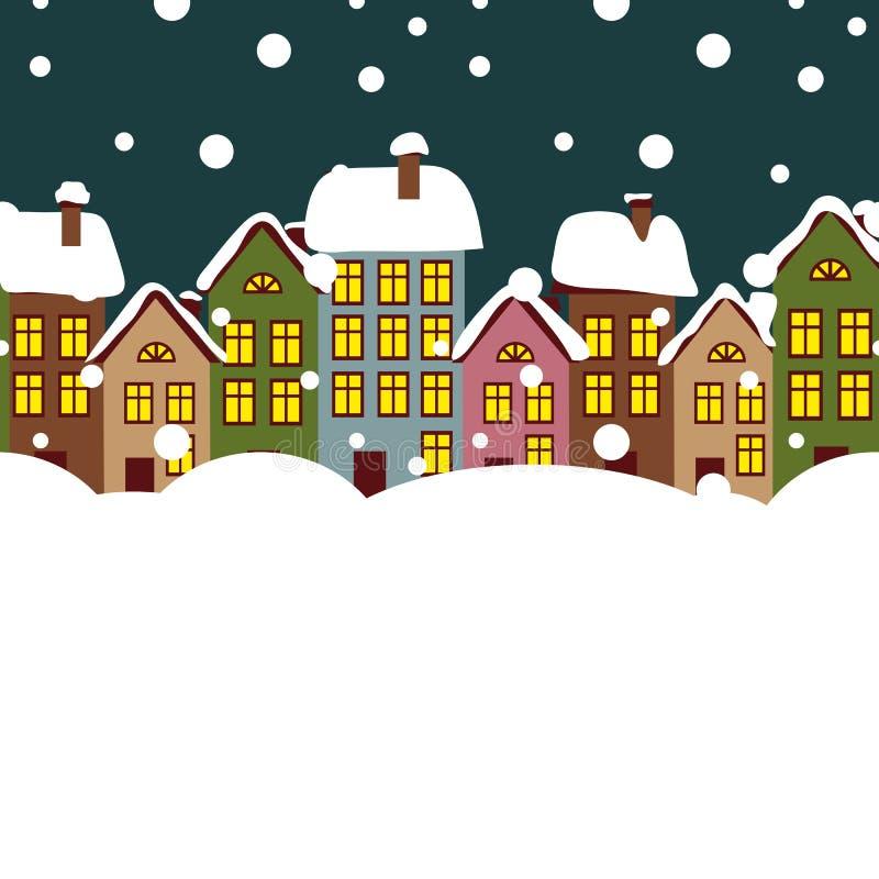 Χειμερινή πόλη απεικόνιση αποθεμάτων