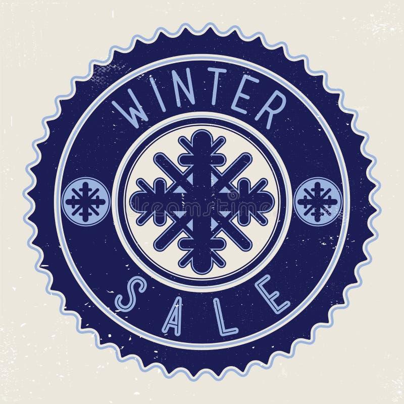 Χειμερινή πώληση εμβλημάτων ελεύθερη απεικόνιση δικαιώματος