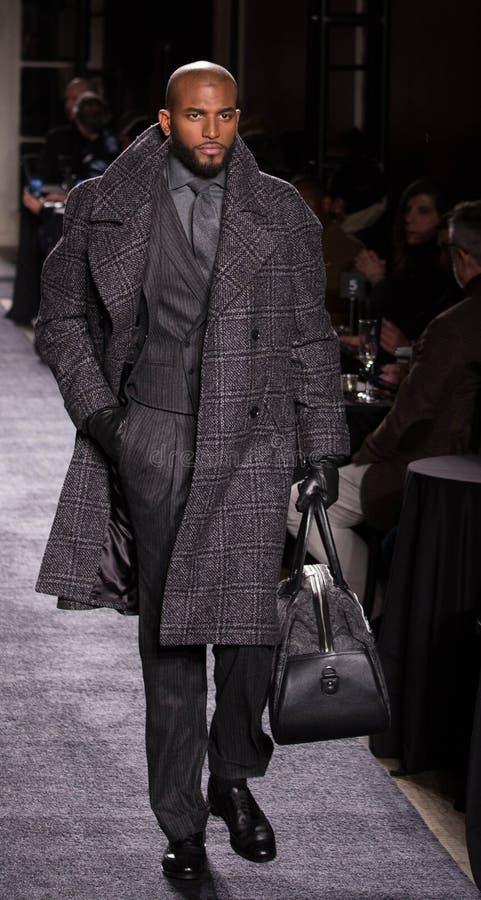 Χειμερινή συλλογή ατόμων του Joseph Abboud κατά τη διάρκεια της εβδομάδας 2018 μόδας της Νέας Υόρκης στοκ φωτογραφία με δικαίωμα ελεύθερης χρήσης