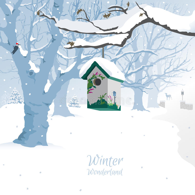 Χειμερινή χώρα των θαυμάτων - υπόβαθρο απεικόνιση αποθεμάτων