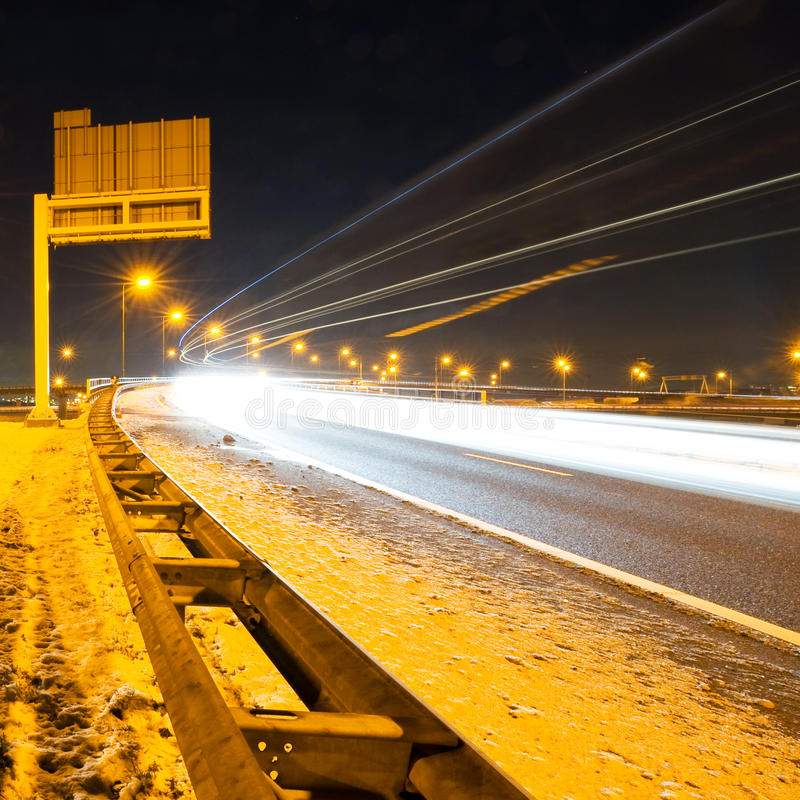 Χειμερινός αυτοκινητόδρομος στοκ φωτογραφία
