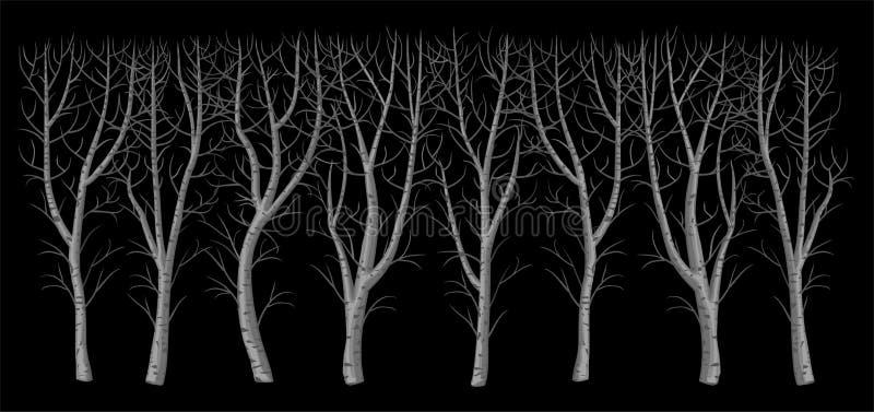 Χειμερινός γυμνός θάμνος χωρίς φύλλα απεικόνιση αποθεμάτων