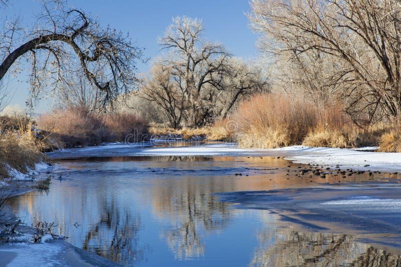 Χειμερινός ποταμός στο Κολοράντο στοκ φωτογραφία με δικαίωμα ελεύθερης χρήσης