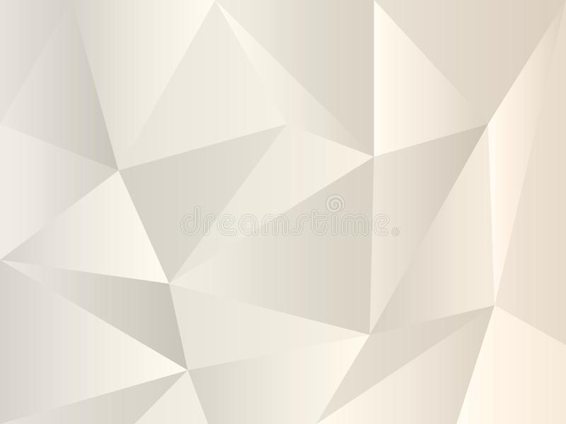 Χειμερινό άσπρο και γκρίζο σχέδιο για το σχέδιό σας Γκρίζο polygonal υπόβαθρο μαργαριταριών των τριγώνων Απλό γεωμετρικό ύφος ελεύθερη απεικόνιση δικαιώματος