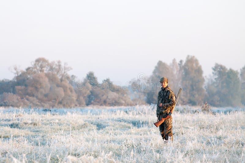 Χειμερινό κυνήγι στοκ εικόνα