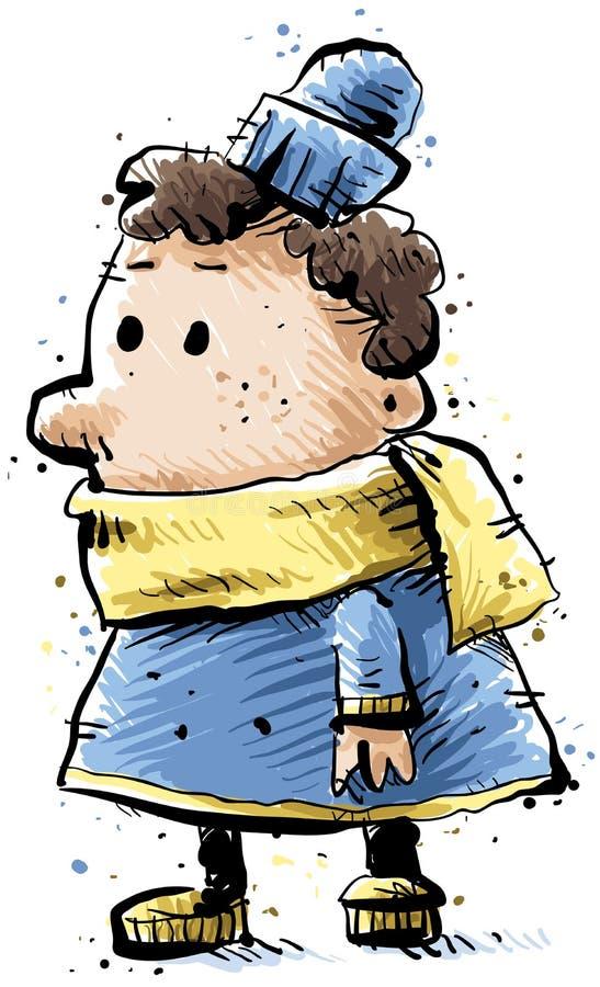 Χειμερινό παιδί διανυσματική απεικόνιση