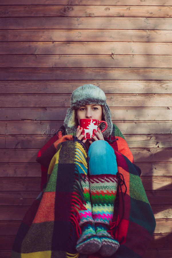 Χειμερινό πορτρέτο στοκ εικόνα