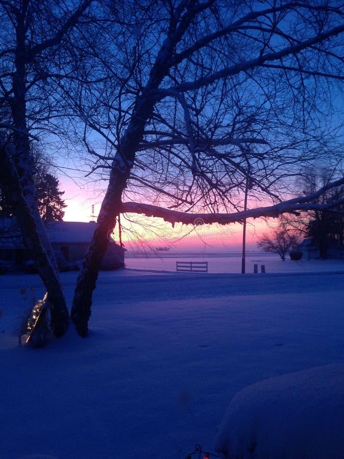 Χειμερινό πρωί στοκ εικόνες με δικαίωμα ελεύθερης χρήσης
