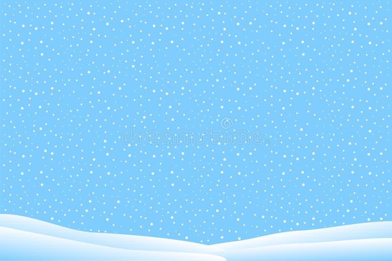 Χειμερινό τοπίο με το μειωμένο χιόνι ελεύθερη απεικόνιση δικαιώματος