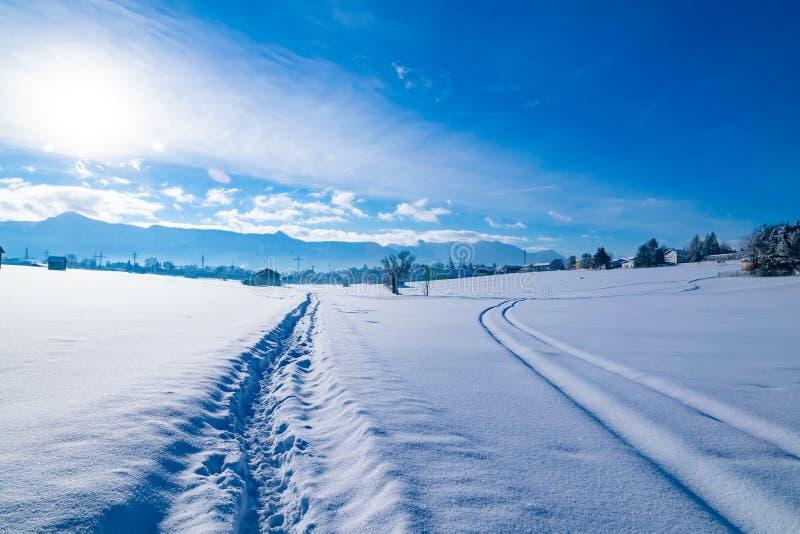 Χειμερινό τοπίο σε Murnau AM Staffelsee στοκ φωτογραφία με δικαίωμα ελεύθερης χρήσης