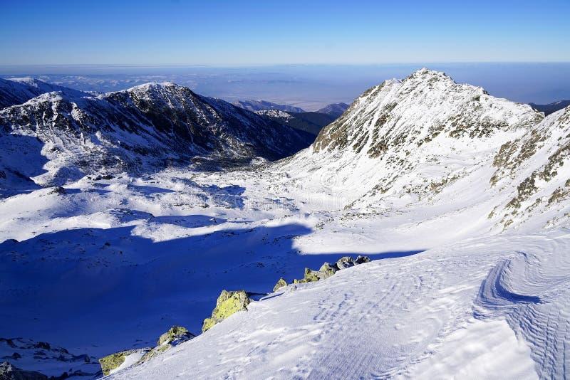 Χειμερινό τοπίο στα ρουμανικά βουνά στοκ φωτογραφίες με δικαίωμα ελεύθερης χρήσης