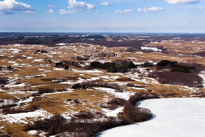 Χειμερινό τοπίο στη Λιθουανία στοκ εικόνες με δικαίωμα ελεύθερης χρήσης
