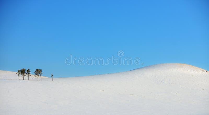 Χειμερινό τοπίο στους λόφους στοκ φωτογραφίες