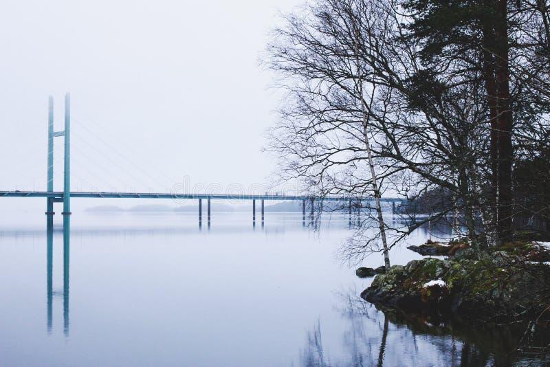Χειμερινό τοπίο όμορφου Heinola, Φινλανδία στοκ εικόνες με δικαίωμα ελεύθερης χρήσης