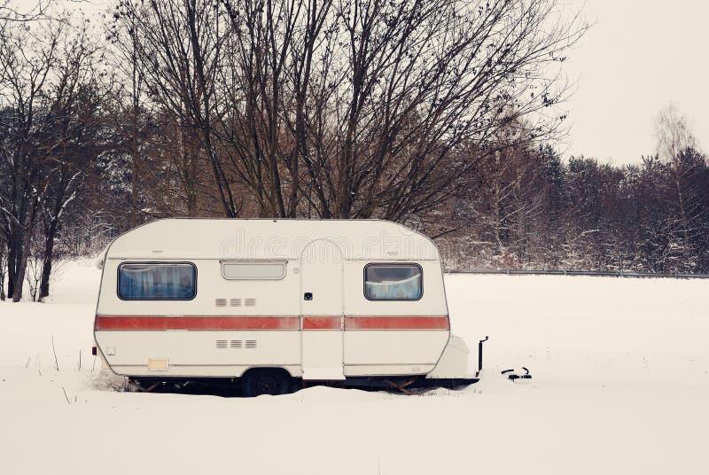 Χειμερινό τροχόσπιτο στοκ φωτογραφία