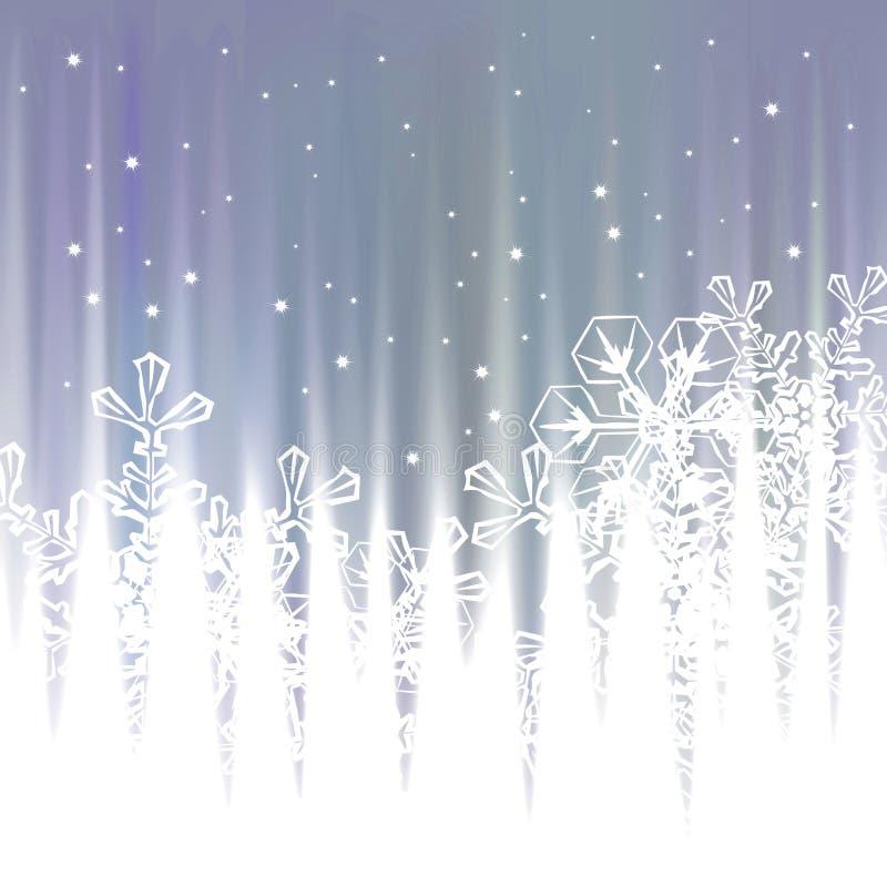 Χειμερινό υπόβαθρο, snowflakes - διανυσματική απεικόνιση απεικόνιση αποθεμάτων