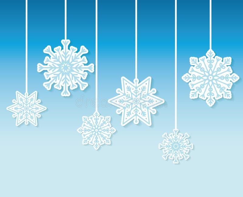Χειμερινό χιόνι ή snowflake διανυσματική απεικόνιση