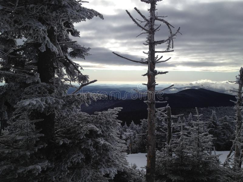 Χειμερινό vista - Killington Βερμόντ στοκ εικόνες με δικαίωμα ελεύθερης χρήσης
