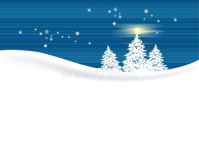 χειμώνας ανασκόπησης διανυσματική απεικόνιση