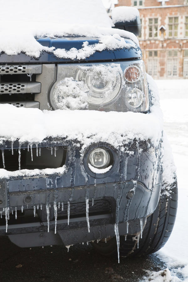 χειμώνας αυτοκινήτων στοκ εικόνα