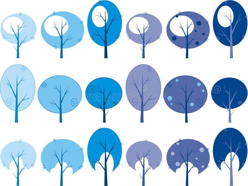 χειμώνας δέντρων ελεύθερη απεικόνιση δικαιώματος
