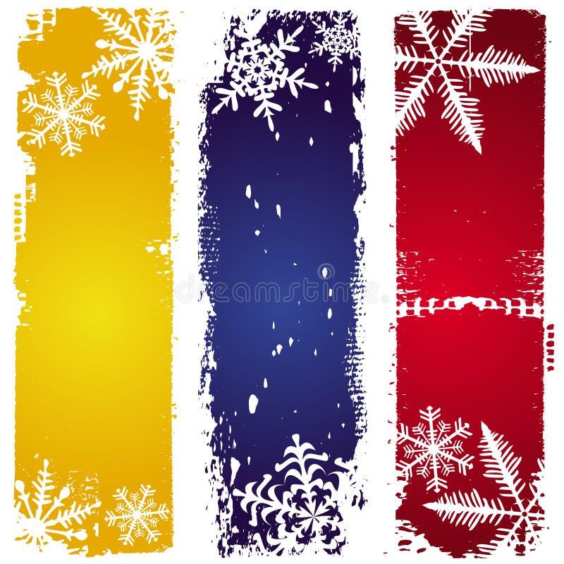 χειμώνας εμβλημάτων τρία διανυσματική απεικόνιση