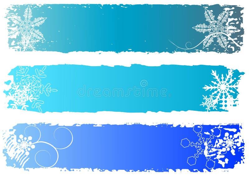 χειμώνας εμβλημάτων διανυσματική απεικόνιση