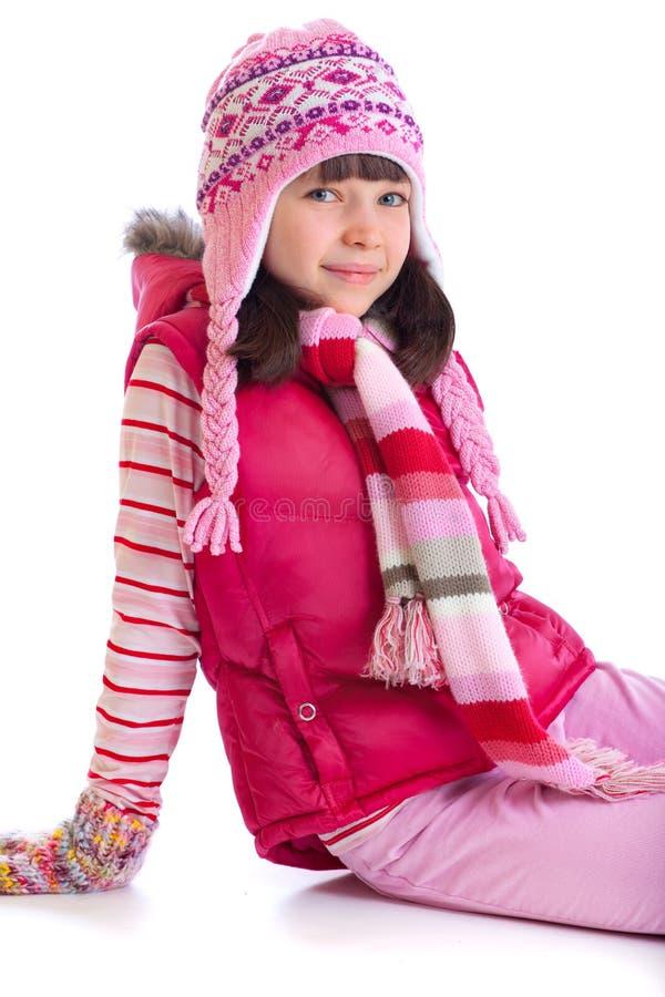 χειμώνας κοριτσιών ενδυμά στοκ εικόνες