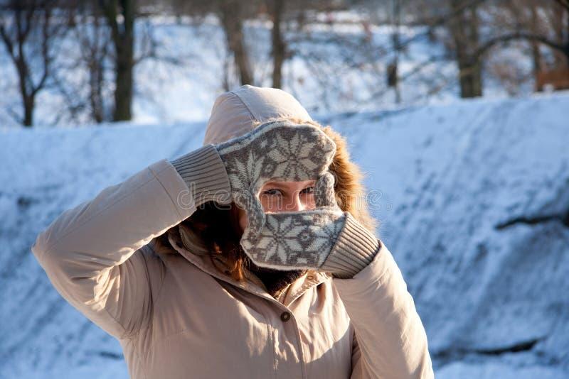 χειμώνας κοριτσιών στοκ φωτογραφίες