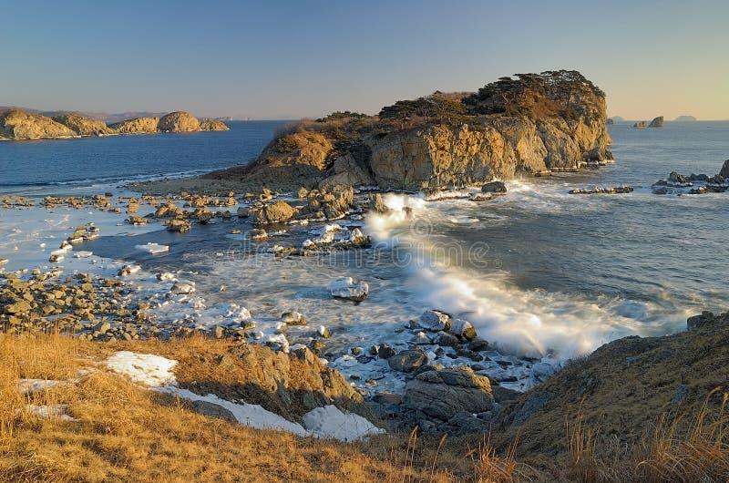 χειμώνας κυματωγών θάλασσας στοκ εικόνες