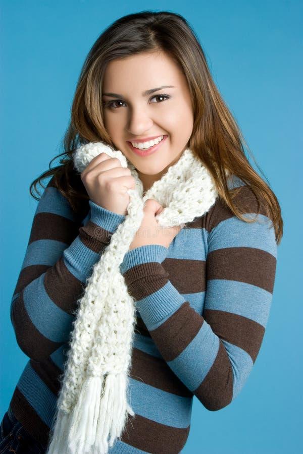 χειμώνας μαντίλι κοριτσιώ&nu στοκ εικόνα με δικαίωμα ελεύθερης χρήσης