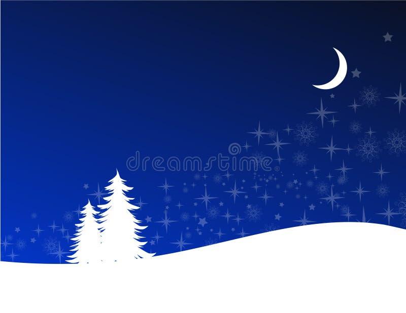 χειμώνας νύχτας απεικόνιση αποθεμάτων