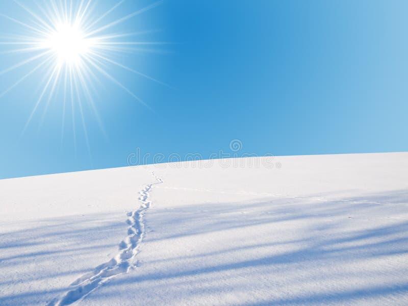 χειμώνας οριζόντων στοκ εικόνα