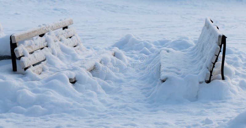 χειμώνας πάγκων στοκ εικόνες