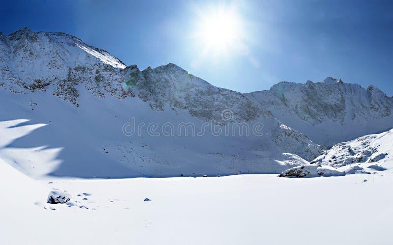 χειμώνας πανοράματος βο&upsi στοκ φωτογραφία