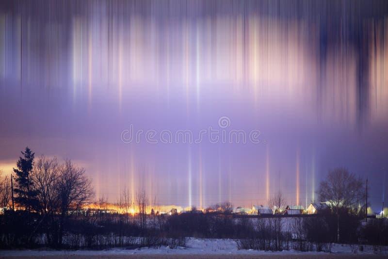 χειμώνας περπατήματος οδών ανθρώπων νύχτας τοπίων στοκ φωτογραφίες