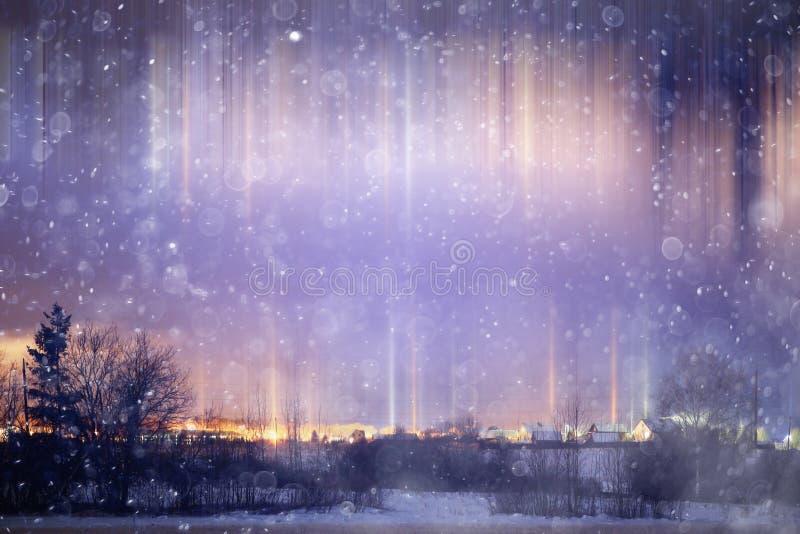 χειμώνας περπατήματος οδών ανθρώπων νύχτας τοπίων στοκ φωτογραφία με δικαίωμα ελεύθερης χρήσης
