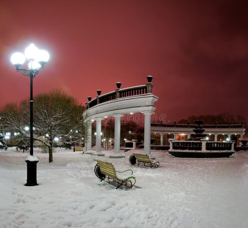 χειμώνας πηγών πόλεων στοκ εικόνα