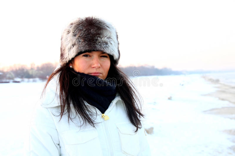 χειμώνας πορτρέτου στοκ εικόνες