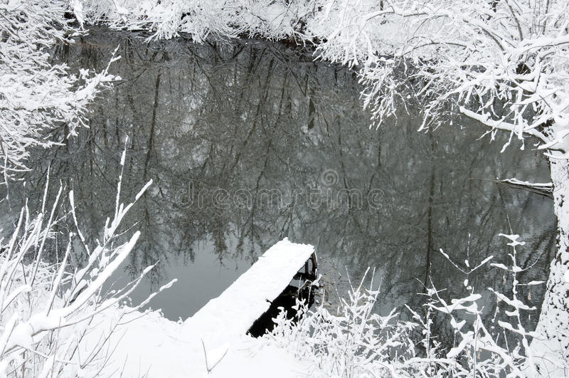 Download χειμώνας ποταμών τοπίων στοκ εικόνα. εικόνα από ύδωρ - 22799967