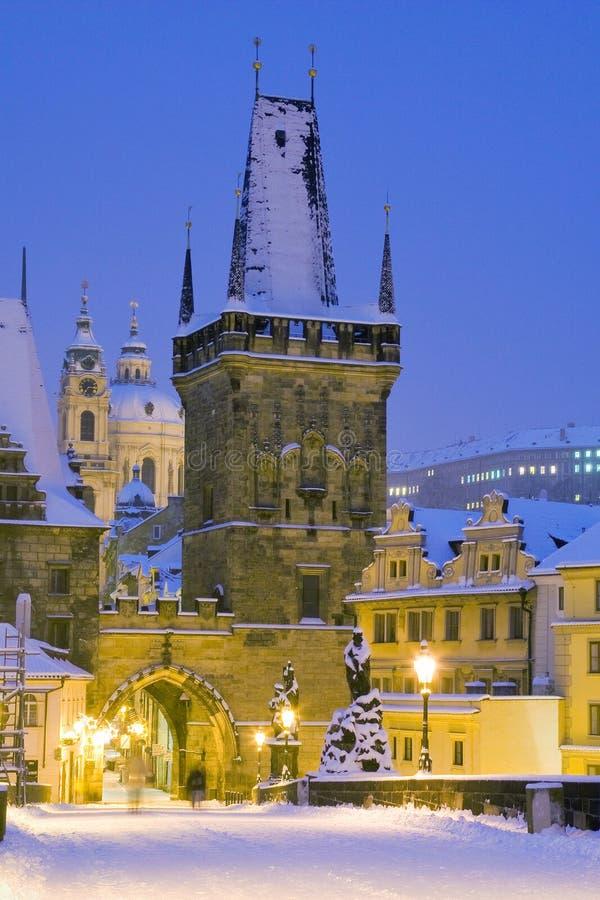Χειμώνας Πράγα, Τσεχία, Ευρώπη στοκ εικόνες με δικαίωμα ελεύθερης χρήσης