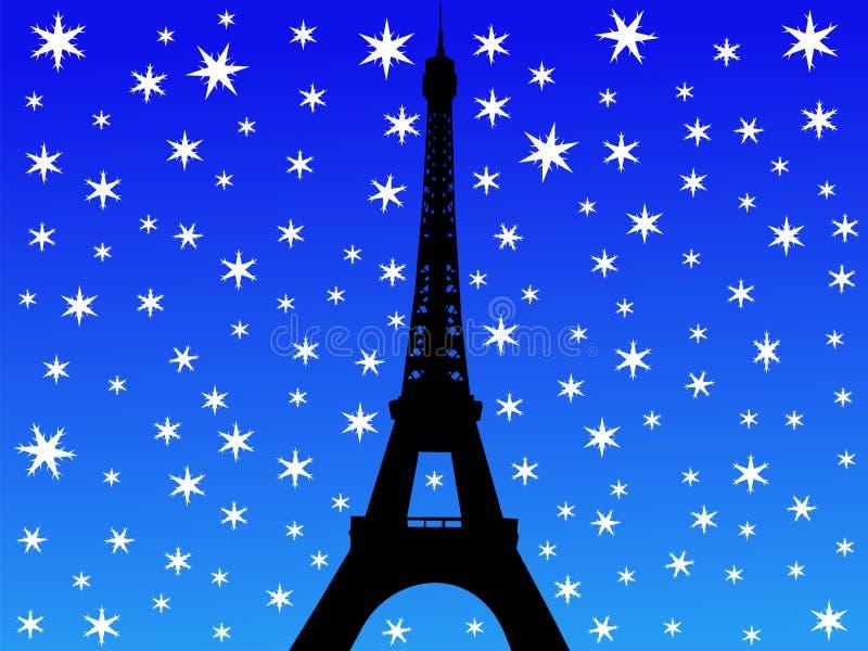 χειμώνας πύργων του Άιφελ ελεύθερη απεικόνιση δικαιώματος
