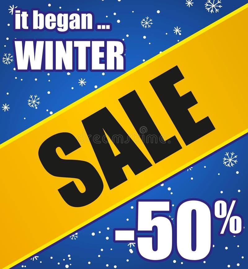 χειμώνας πώλησης αφισών ελεύθερη απεικόνιση δικαιώματος