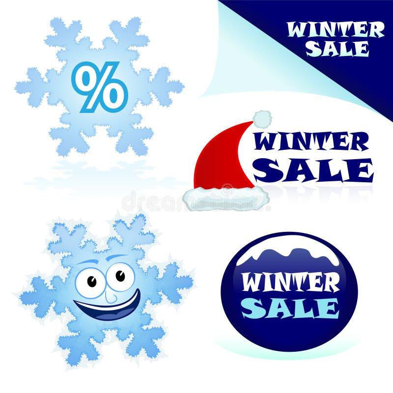 χειμώνας πώλησης διανυσματική απεικόνιση
