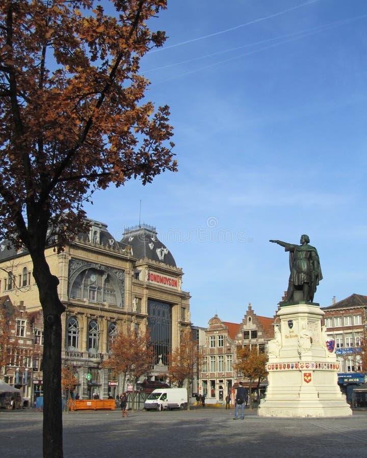 Χειμώνας σε Gent στοκ φωτογραφίες