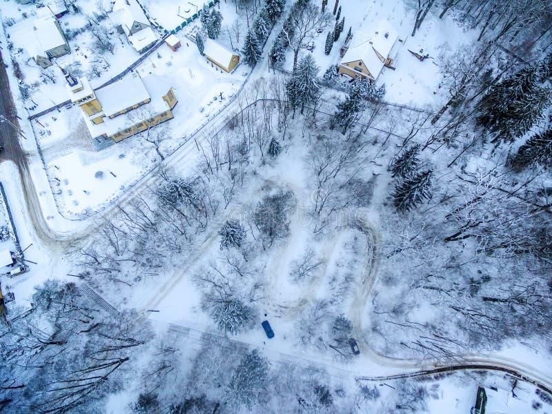 Χειμώνας σε Vilnius Λιθουανία: Δρόμος Seprentine Tuputiskes στοκ εικόνες με δικαίωμα ελεύθερης χρήσης